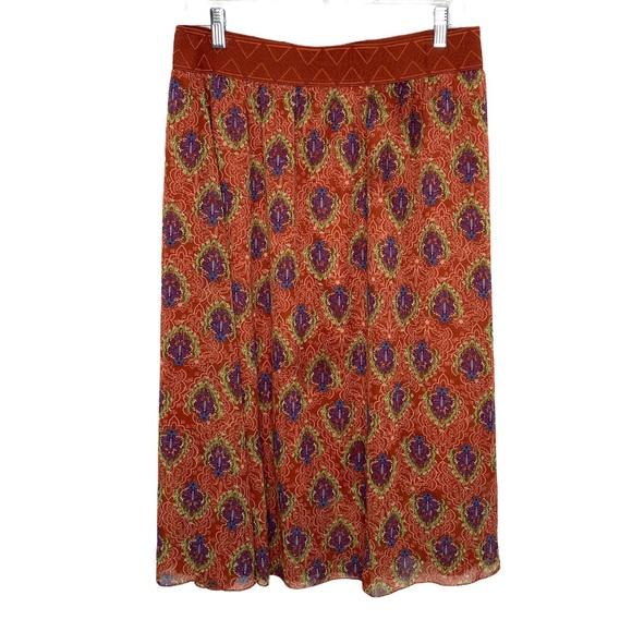 LULAROE Boho midi skirt women's size large